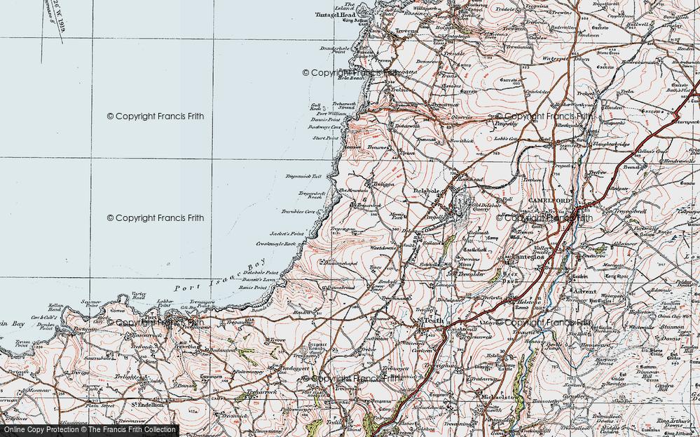 Old Map of Tregardock, 1919 in 1919