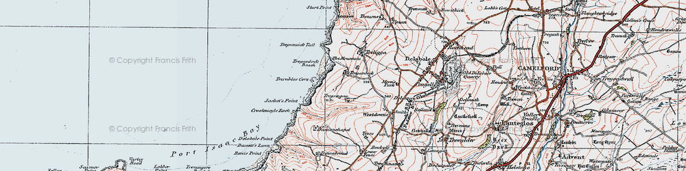 Old map of Tregardock in 1919
