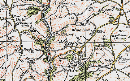 Old map of Wringworthy in 1919