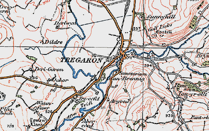 Old map of Banc Tan-yr-allt in 1923