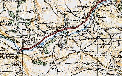 Old map of Ael-y-coryn in 1921