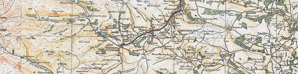 Old map of Ael-y-coryn in 1921