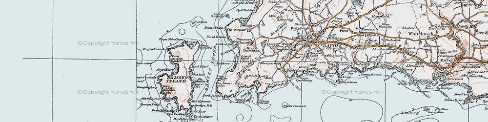 Old map of Aberfelin in 1922
