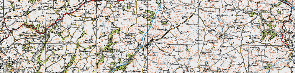 Old map of Golden in 1919