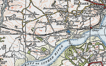 Old map of Ince Castle in 1919