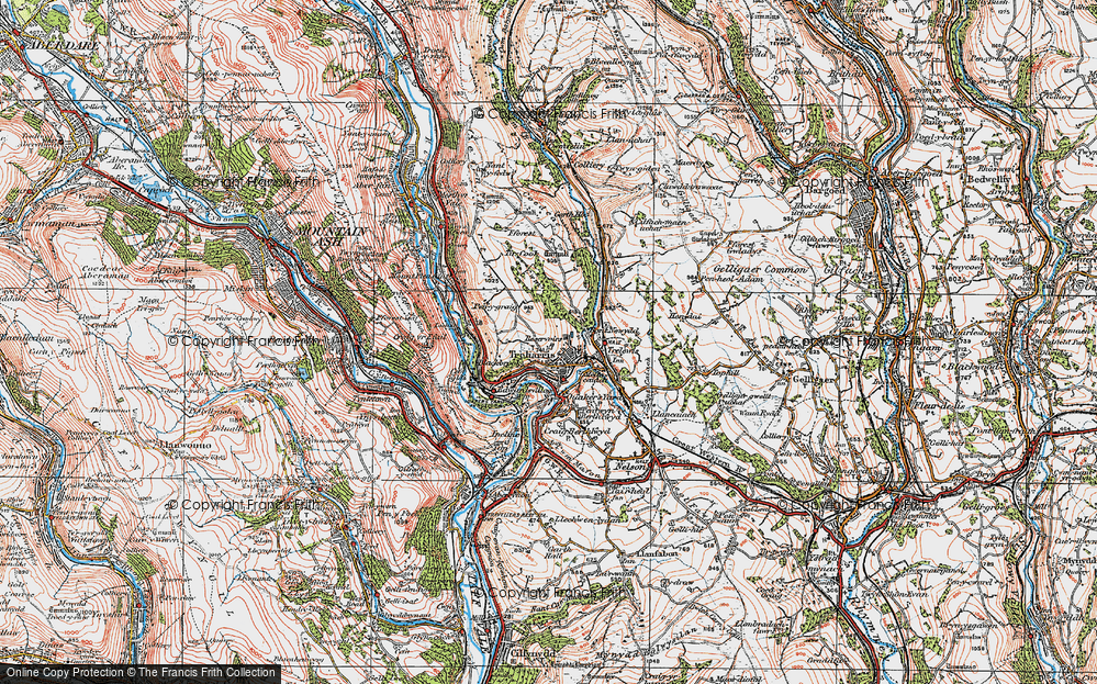 Old Map of Treharris, 1919 in 1919