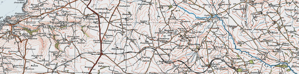Old map of Youlstone in 1919
