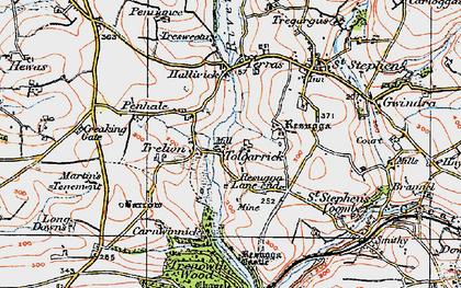 Old map of Tolgarrick in 1919