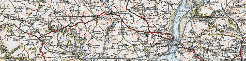 Old map of Whity Cross in 1919