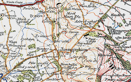 Old map of Tremeirchion in 1922
