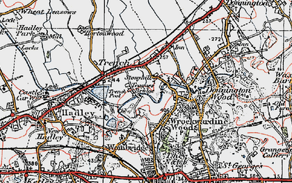 Old map of Trench in 1921