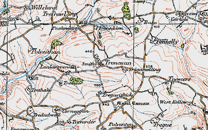 Old map of Bake Rings in 1919