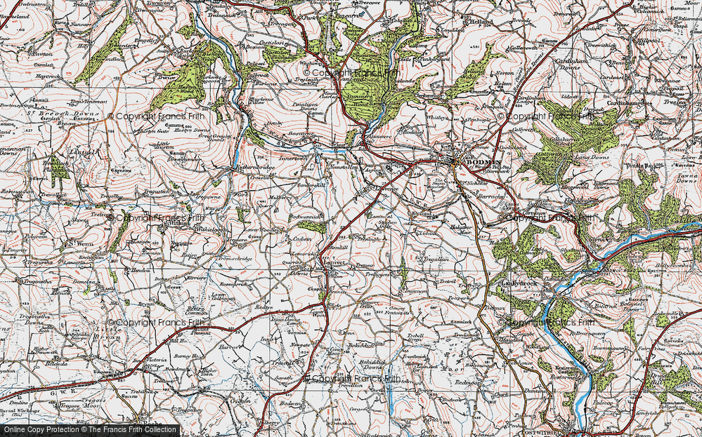 Old Map of Historic Map covering Laninval Ho in 1919