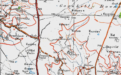 Old map of Leech Pool in 1919
