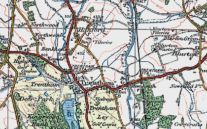 Old map of Trentham in 1921