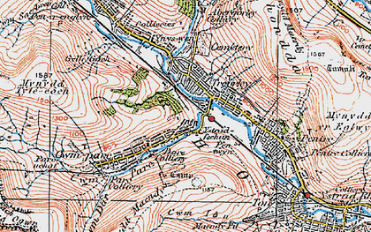 Old map of Treorchy in 1923