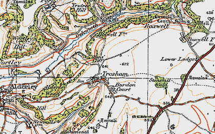 Old map of Yewtree Hill in 1919