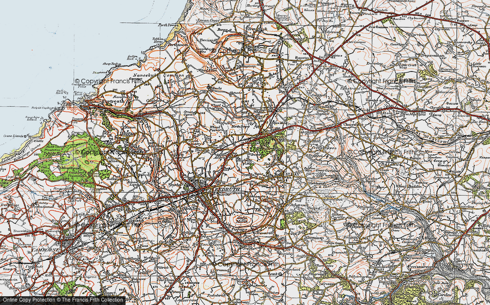 Old Map of Treskerby, 1919 in 1919