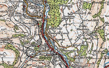 Old map of Lasgarn in 1919