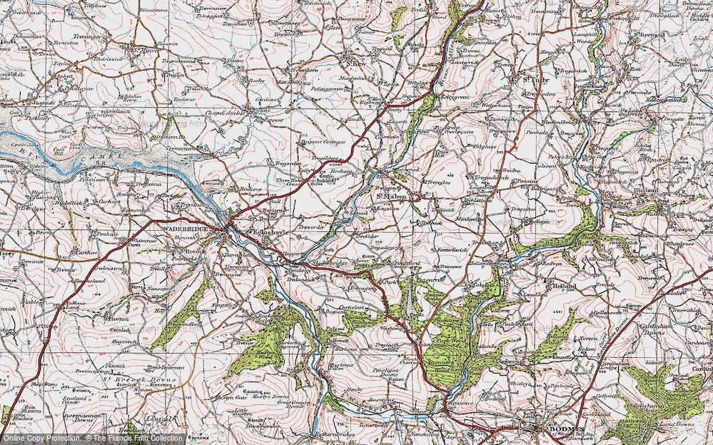 Old Map of Historic Map covering Lemail in 1919