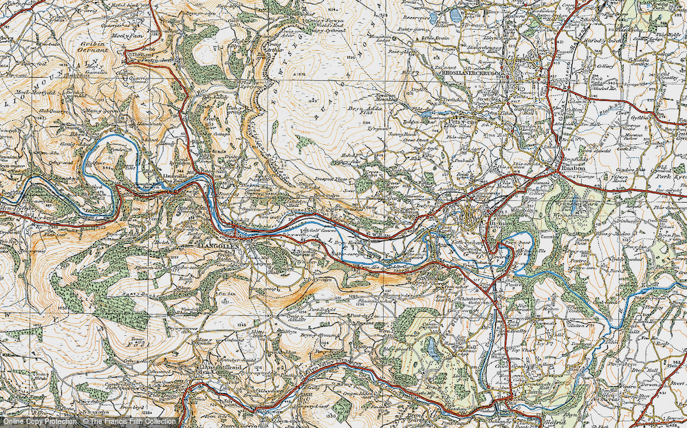 Old Map of Historic Map covering Abercregan in 1921