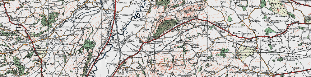 Old map of Yewtree Ho in 1921