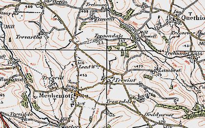 Old map of Westdown Wood in 1919