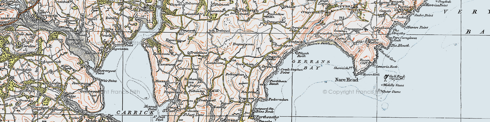 Old map of Trewithian in 1919