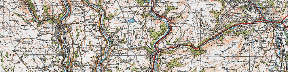 Old map of Ton-ty'r-bel in 1919