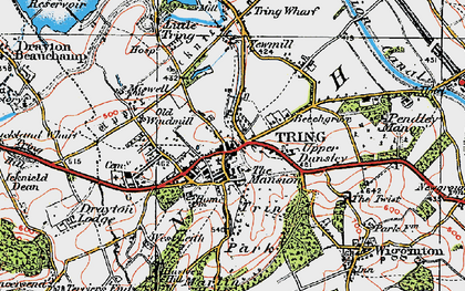 Old map of Tring in 1920