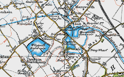 Old map of Tringford in 1920