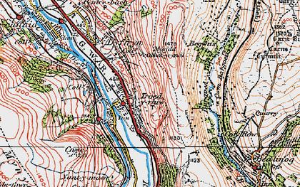 Old map of Bargod Taf in 1923