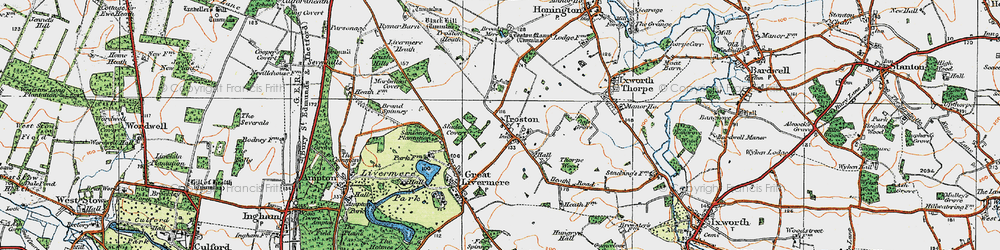 Old map of Troston in 1920