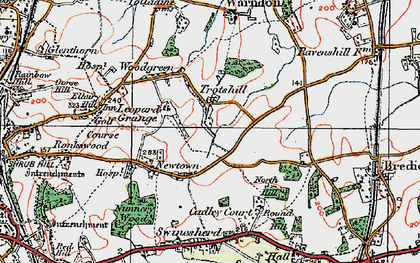 Old map of Withy Wells in 1920
