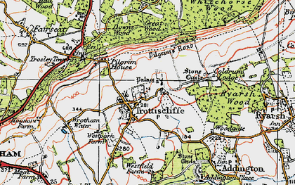 Old map of Whitehorse Wood in 1920
