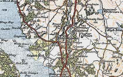 Old map of White Cross Bay in 1925