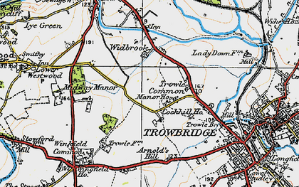 Old map of Wingfield Ho in 1919