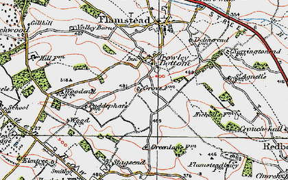 Old map of Trowley Bottom in 1920