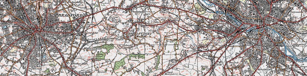Old map of Acres Hall in 1925