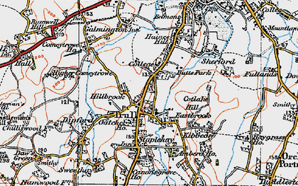 Old map of Trull in 1919