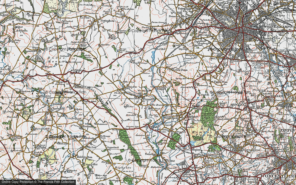 Old Map of Historic Map covering Awbridge Br in 1921