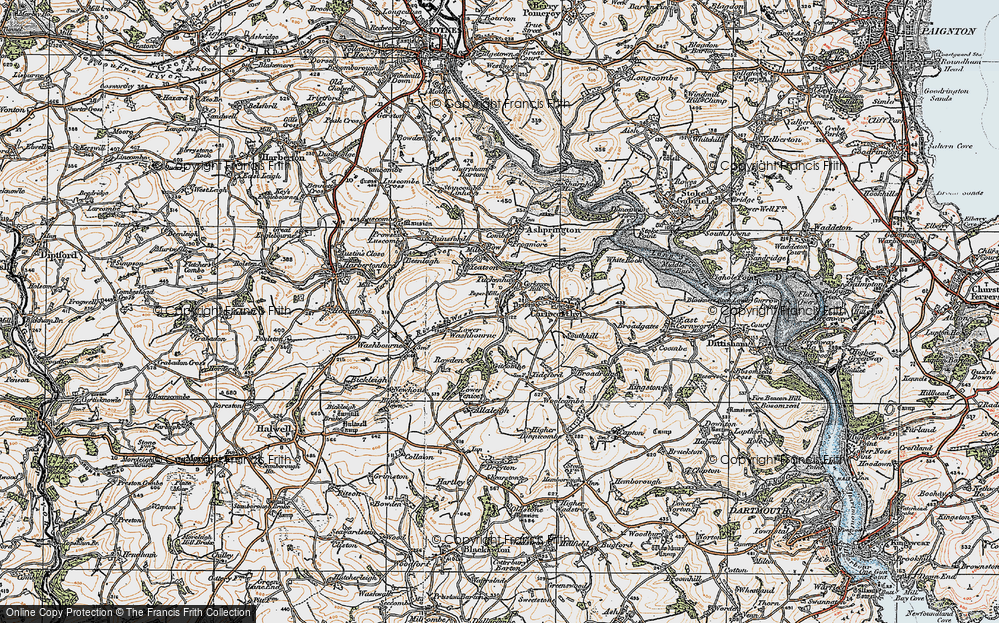 Old Map of Tuckenhay, 1919 in 1919