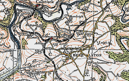 Old map of Ashen in 1919