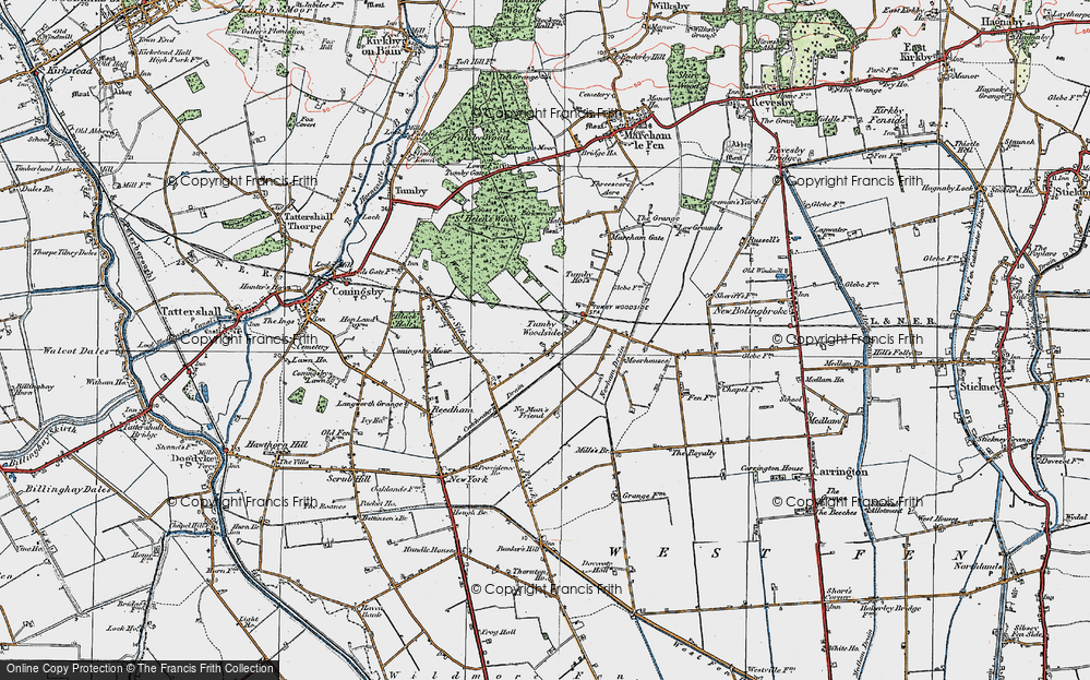 Old Map of Tumby Woodside, 1923 in 1923