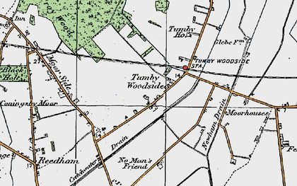 Old map of Tumby Woodside in 1923