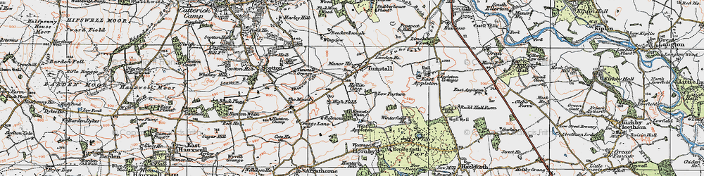 Old map of Wintylow in 1925
