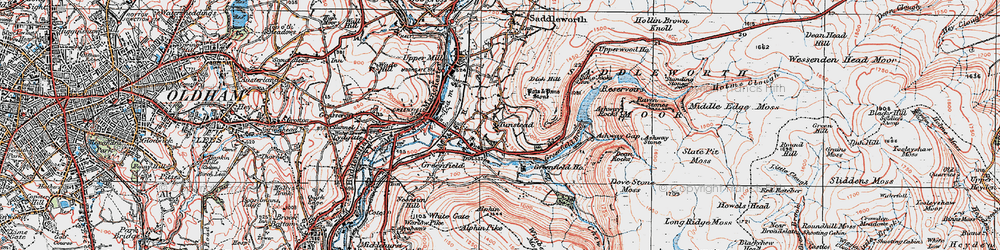 Old map of Alphin in 1924