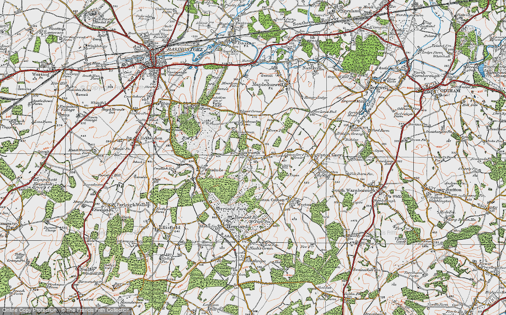 Old Map of Tunworth, 1919 in 1919