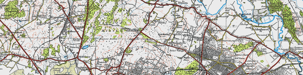Old map of Turbary Common in 1919