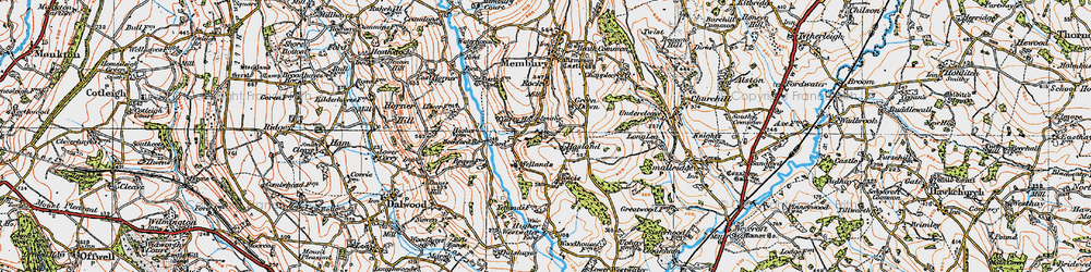 Old map of Yarty Ho in 1919